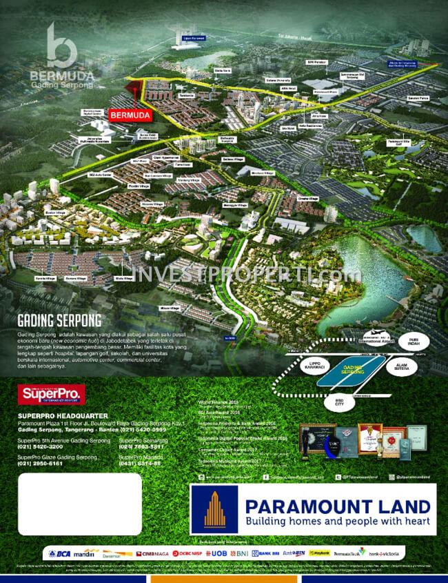 Lokasi Rumah Bermuda Paramount Land