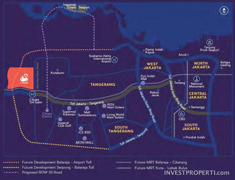 Peta Lokasi Lavon City Cikupa