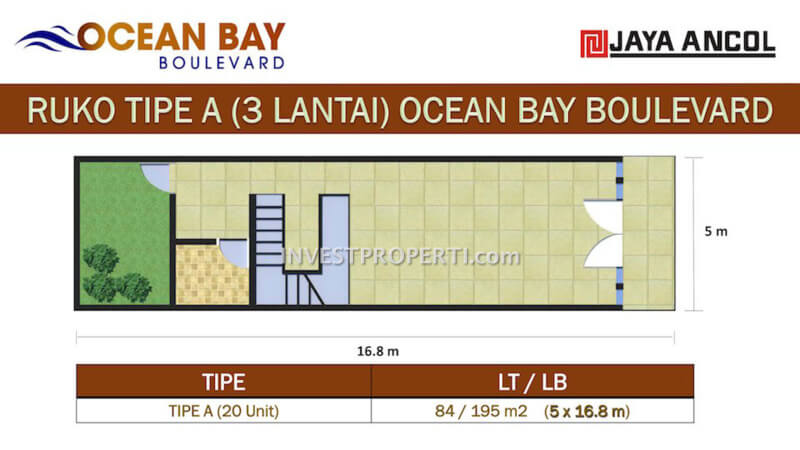 Ruko Ocean Bay Boulevard Ancol Tipe A