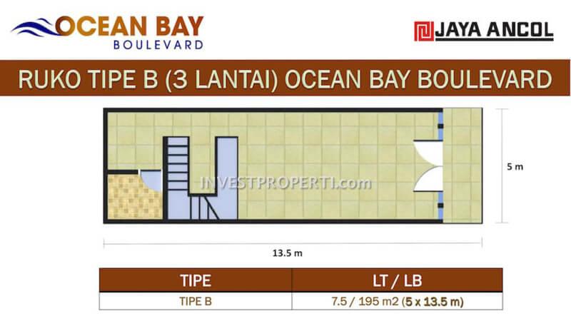 Ruko Ocean Bay Boulevard Ancol Tipe B