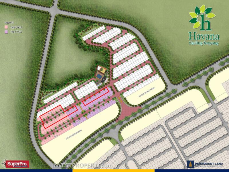 Site Plan Rumah Havana Paramount Land