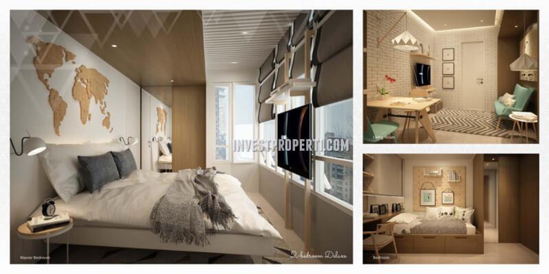 Apartemen Scandinavia TangCity Tipe 2 BR Deluxe Design