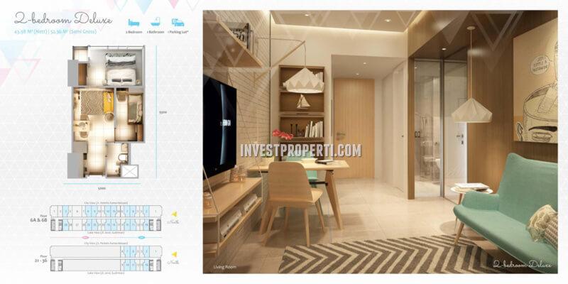 Apartemen Scandinavia TangCity Tipe 2 BR Deluxe