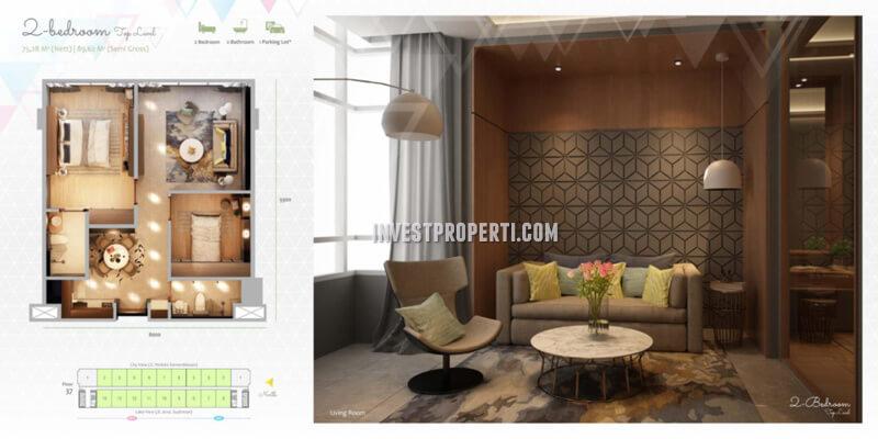 Apartemen Scandinavia TangCity Tipe 2 BR Top Level