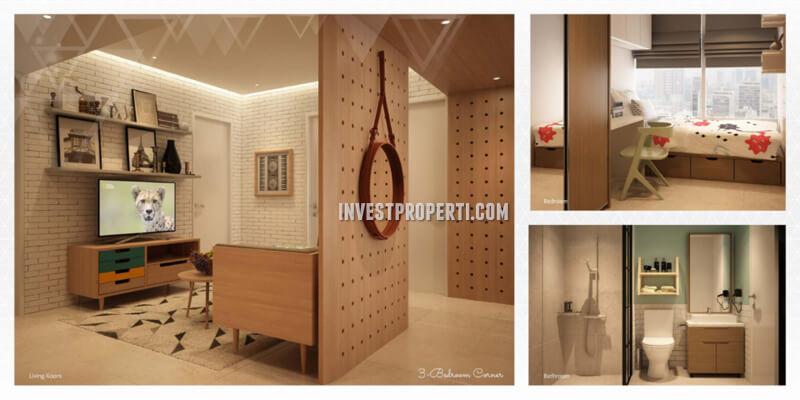 Apartemen Scandinavia TangCity Tipe 3 BR Corner Design