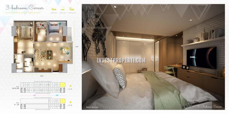 Apartemen Scandinavia TangCity Tipe 3 BR Corner