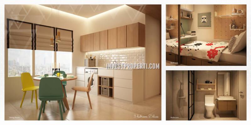 Apartemen Scandinavia TangCity Tipe 3 BR Deluxe Design