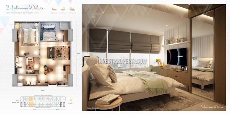 Apartemen Scandinavia TangCity Tipe 3 BR Deluxe