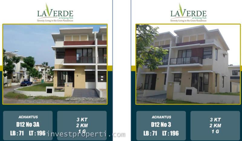 Dijual Rumah La Verde Serpong Park