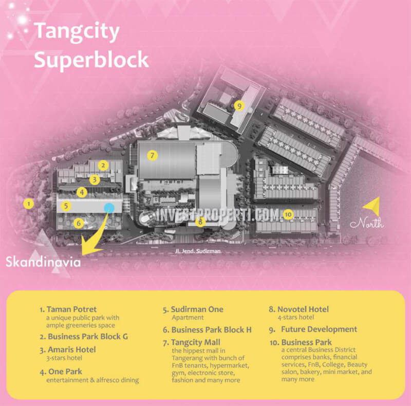 Lokasi Apartemen Scandinavia Tangerang
