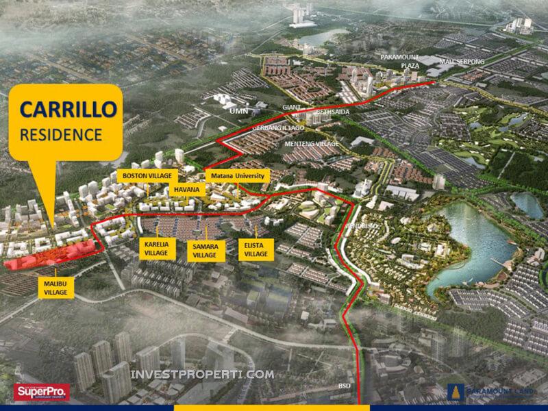 Lokasi Carrillo Residence Gading Serpong