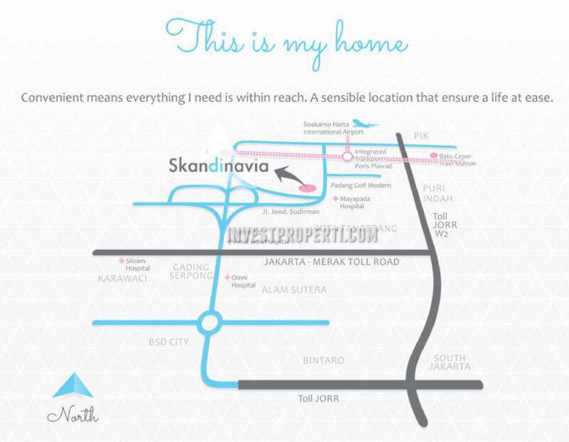 Peta Lokasi Apartemen Scandinavia Tangcity