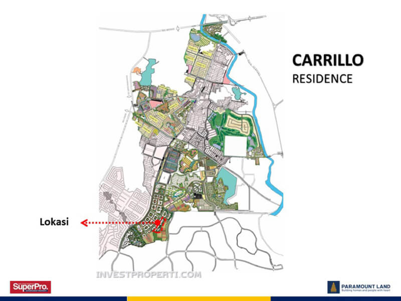 Peta Lokasi Carrillo Residence Gading Serpong