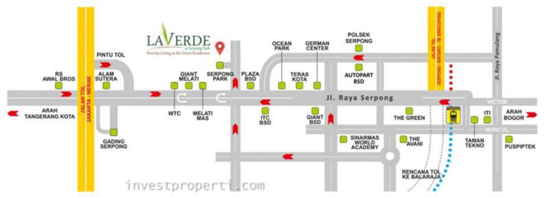 Peta Lokasi Laverde Serpong Park