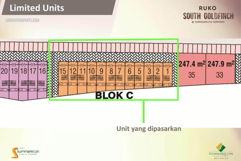 Ruko South Goldfinch Blok C