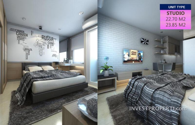 Tipe Studio - Apartemen B Residence