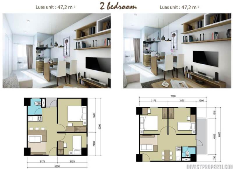 Apartemen Sentraland Cengkareng 2BR Type