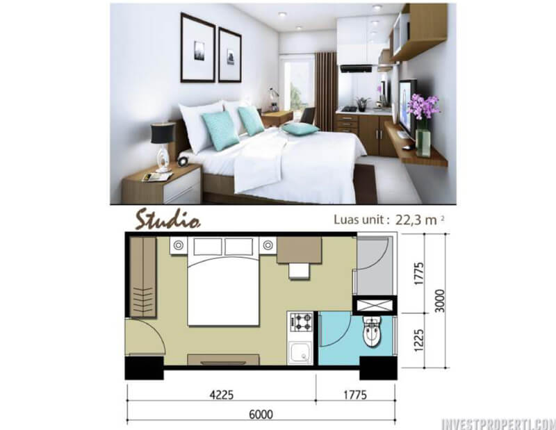 Apartemen Sentraland Cengkareng Studio Type