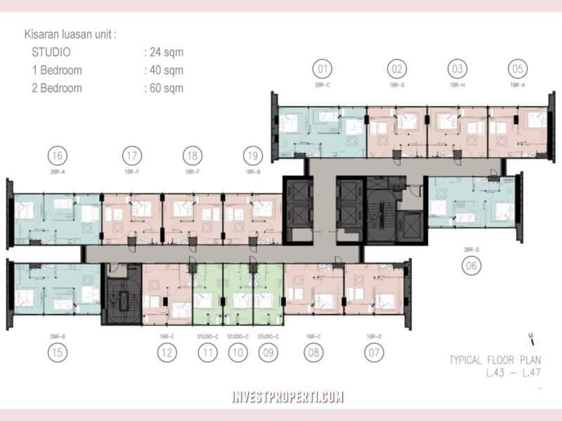 Floor Plan Apartemen Newton 2 Jakarta