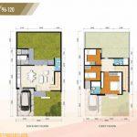 Denah Rumah Cluster Amarine Tipe 105