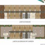 Floor Plan Apartemen Pacific Garden Style