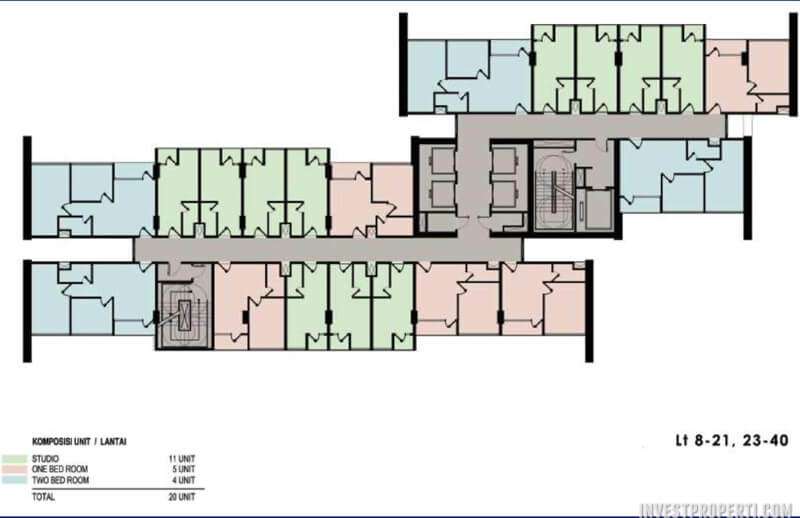 Floor Plan The Newton 2 Ciputra World Jakarta