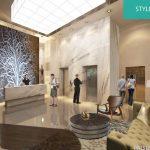 Lobby Apartemen Pacific Garden