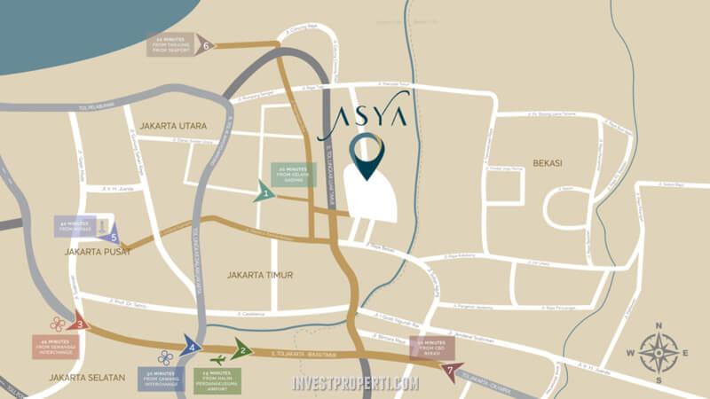 Lokasi ASYA Jakarta Garden City