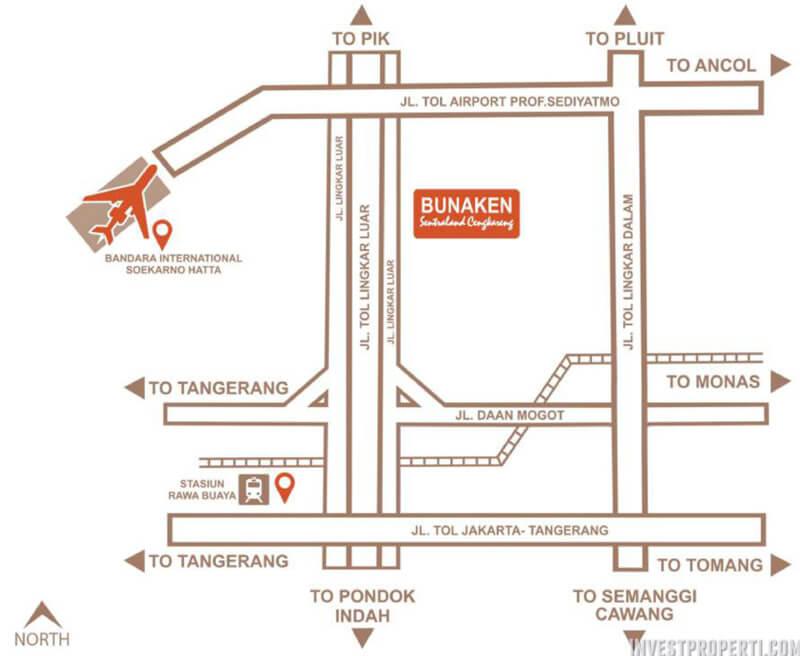 Peta Lokasi Apartemen Sentraland Cengkareng