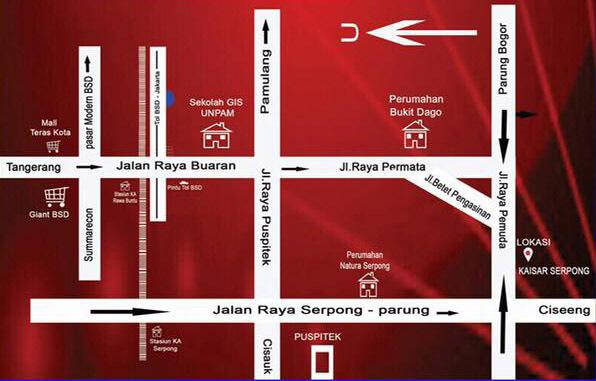 Peta Lokasi Rumah Kaisar Serpong