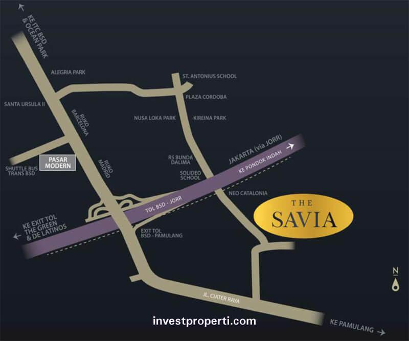 Peta Lokasi Savia BSD City