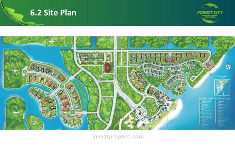 Site Plan Forest City Johor