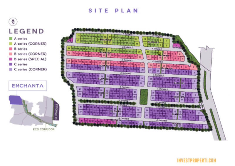 Site Plan Cluster Enchanta Lavon