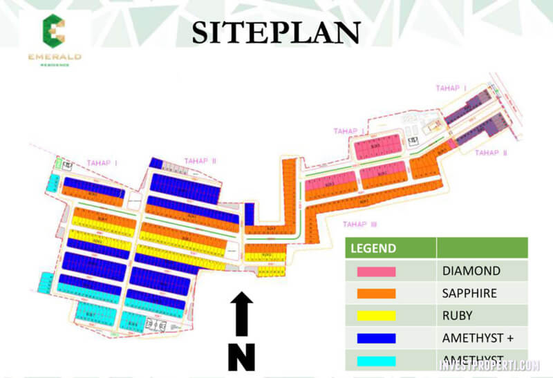 Site Plan Perumahan Emerald Residence