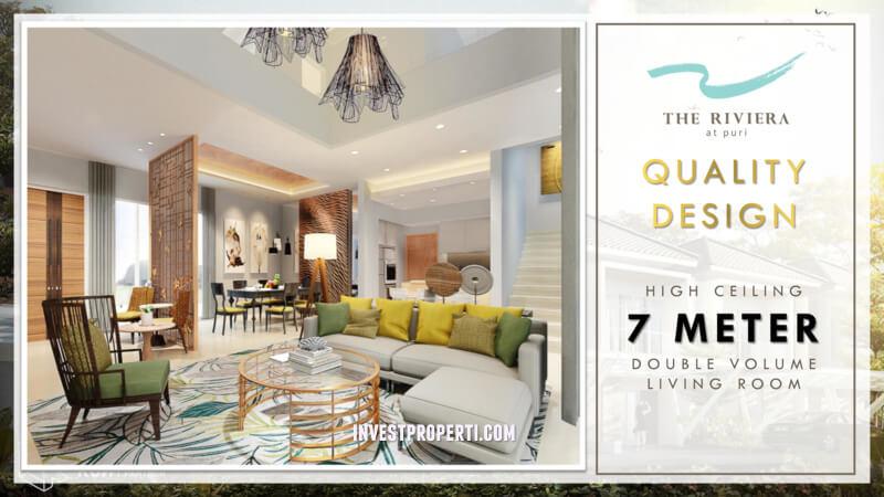 Contoh Interior Design Rumah Riviera at Puri