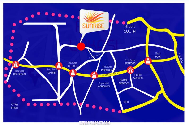 Peta Lokasi Pergudangan Sunrise Pasar Kemis