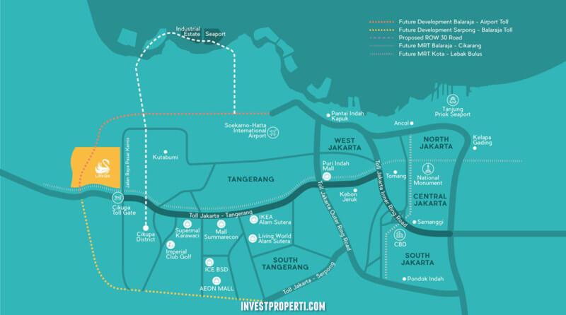 Peta Lokasi Lavon SwanCity