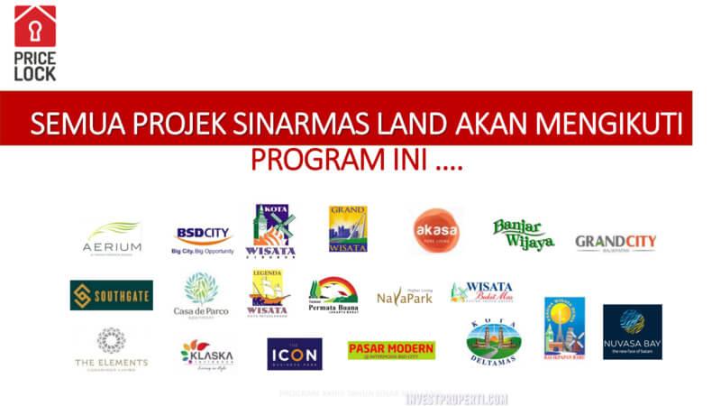 Properti Sinarmas Land dalam program PRICE LOCK