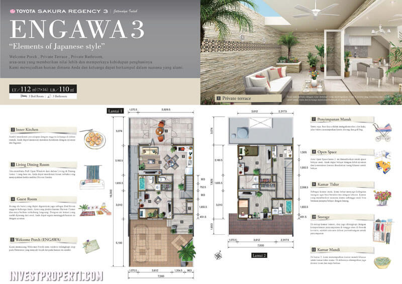 Denah Rumah Engawa 3 Toyota Housing