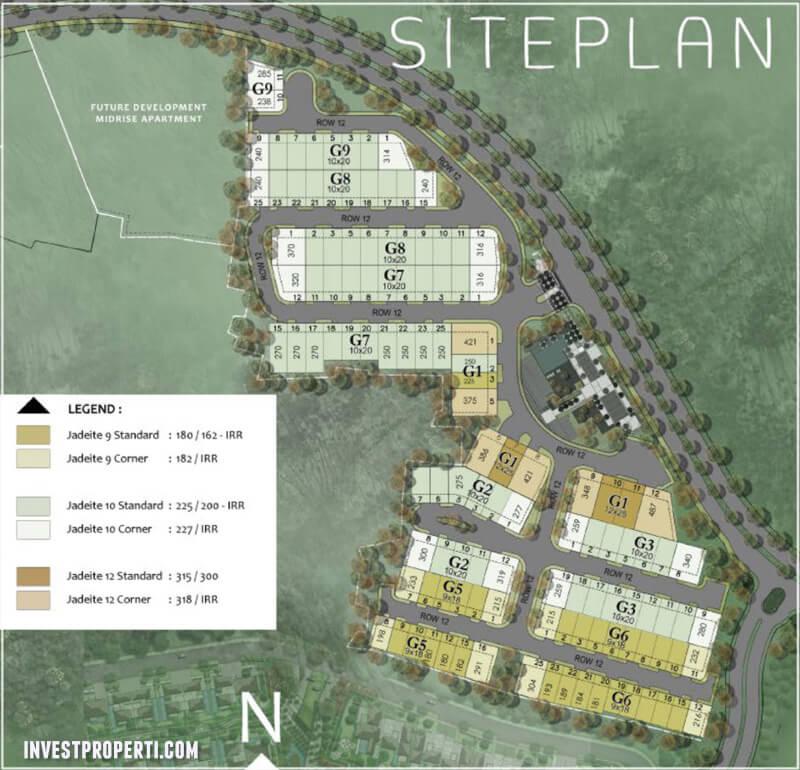 Site Plan Jadeite Residence BSD