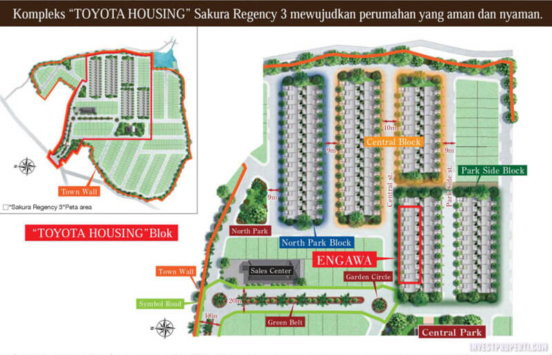 Site Plan Rumah Engawa Toyota Housing