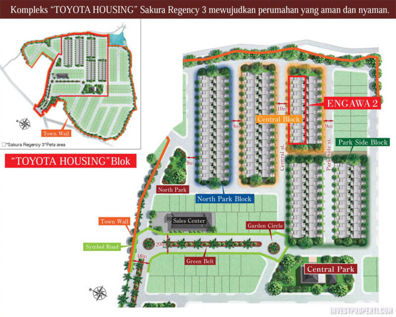 Site Plan Rumah Toyota Housing Sakura Regency 3 - Engawa 2