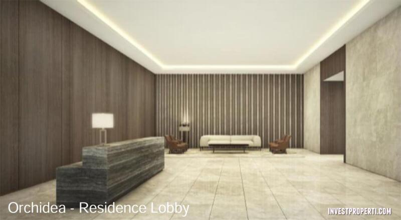 Lobby Apartemen One Parc Puri