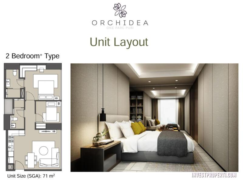 Apartemen One Parc Puri - 2 BR Plus