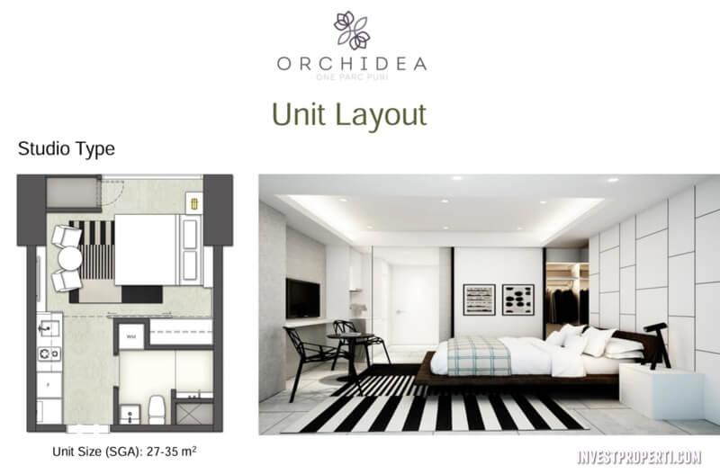 Apartemen One Parc Puri - Studio