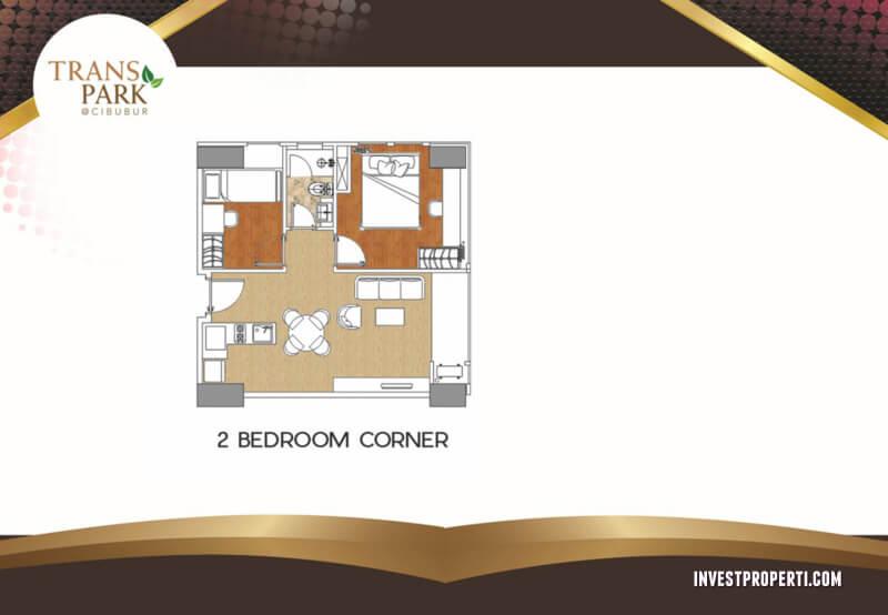 2 BR Corner Apartemen Trans Park