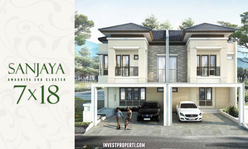 Rumah Cluster Amagriya Eka Podomoro Park Bandung - Tipe Sanjaya