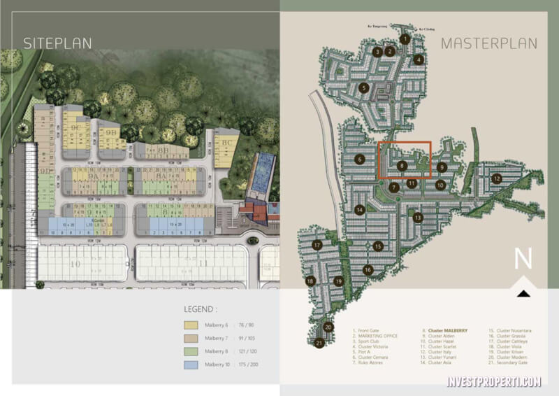 Site Plan Cluster Malberry