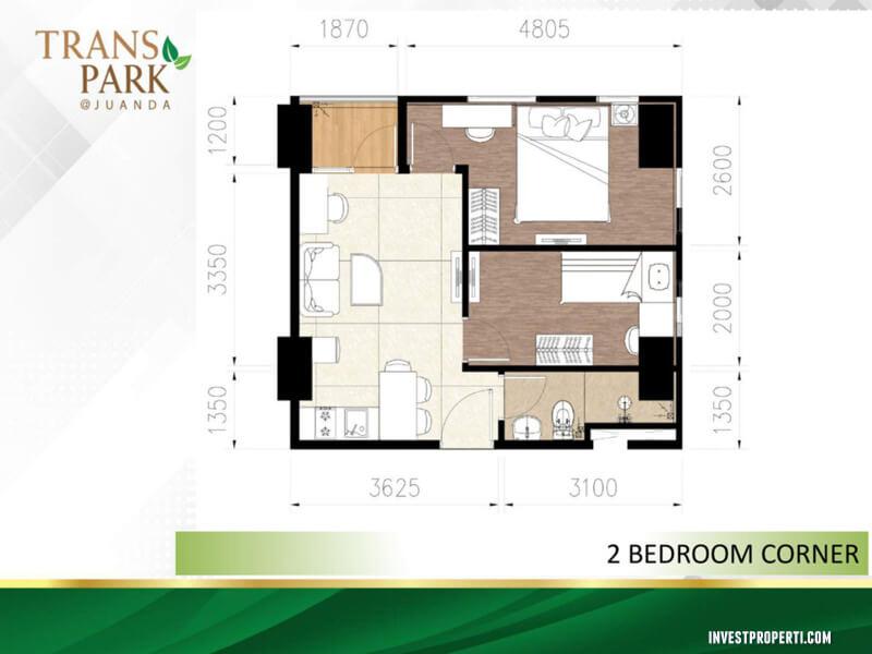 Tipe 2BR Corner Apartemen TransPark Juanda