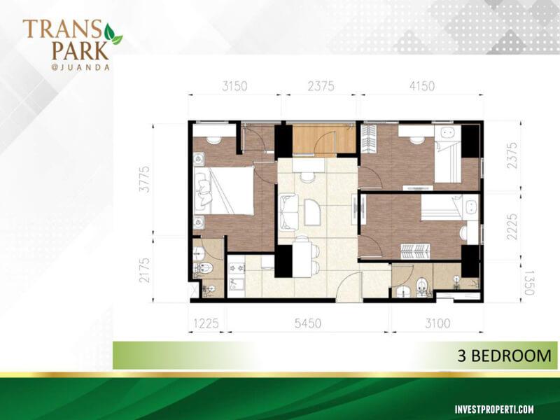 Tipe 3BR Apartemen TransPark Juanda